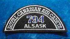CANADA Royal Canadian Air Cadets ALSASK 794 squadron shoulder flash badge patch
