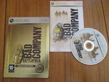 Battlefield Bad Company (gold edition, steelbook) / Jeu XBOX 360 / Complet