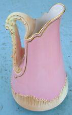 Royal Worcester Pink & Ivory Ewer / Pitcher / Jug 1894 Model 1546 Unusual Color