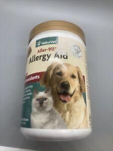 NaturVet Aller-911 Allergy Aid Plus Antioxidants – 180 Soft Chews Exp: 07/2023