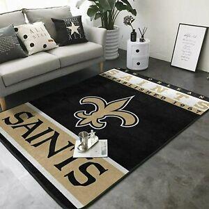 New Orleans Saints Rugs Living Room Anti-Skid Area Rug Bedroom Floor Mat Carpets