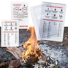 Credit Card Magnifying Fresnel Lens - Survival Kit Fire Lighter Camping Preppers