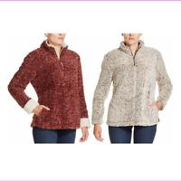 Weatherproof Vintage Women's Frosty Tipped Sherpa 1/4 Zip Pullover