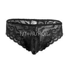 Hot&Sexy Men Underwear G String Thongs Breathable Lace Briefs Underpants Knicker