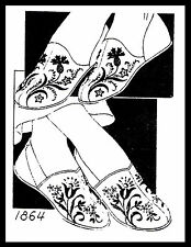 Unique COZY Embroidered SLIPPER Fabric Sewing Pattern Mail Order # 1864 S-M-L