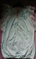 Beautiful mint green girls Tammy top Age 9/10