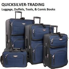 Travel Select Navy Amsterdam 4-Piece Lightweight Rolling Luggage Suitcase Set