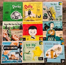 9 Vintage Vinyl Record Albums True Animal Mission Character Building Stories SDA