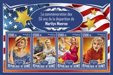 Guinea 2017 MNH Marilyn Monroe 55th Mem Arthur Miller 4v M/S Movie Stars Stamps
