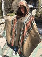 Alpaca Poncho-Warm & Soft S.American Artisan Made Unisex Woolly Llama Brand