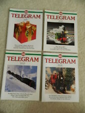 LGB TELEGRAM MAGAZINE SET 2001 VOLUME 12 NUMBERS 1 2 3 & 4 IN GREAT CONDITION!