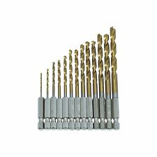 "Amtech 1/4"" Titanium Coated Steel Drill Set (13pcs)"