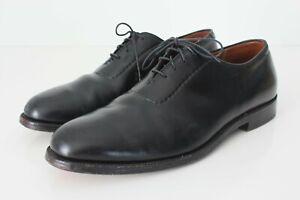 Alden 912 U Throat Balmoral Black Dress Shoes Plain Toe USA Barrie Sz 11 B/D