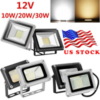 LED Flood Light 12V 10W 30W Spotlight Security Yard Garden Outdoor Lamp US