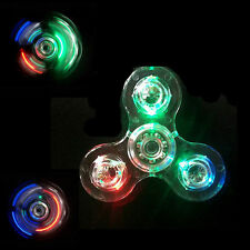 New Led Light Up Transparent Edc Fidget Hand Spinner Stress Reducer