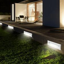 4er Set LED Treppen Stufen Beleuchtungen weiß Veranda Wand Leuchten Außen Lampen