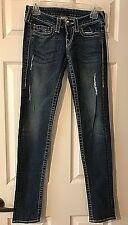 True Religion Distressed Jeans Stella Big T Women's size 25- Hard to Find!