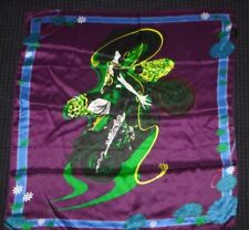 100% Silk Scarf Custo of Barcelona Foulards Motorcycle MOD Woman 31 x32