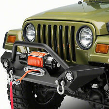87-06 Jeep Wrangler TJ YJ Front Bumper Guard Plate w/LED Light