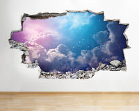 BB362 Woman Vampire Gothic Fantasy Smashed Wall Decal 3D Art Stickers Vinyl Room