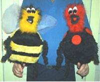 Stash Creature Puppet Pattern: Babies, Bugs, Birds & Bees-Rod puppet craft