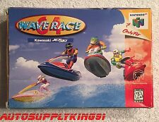 WAVE RACE 64 (Nintendo 64, 1996) N64 Game Complete CIB Mint Rare 100% Tested