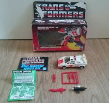 transformers g1 red alert complete with box free UK delivery
