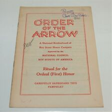 BSA - OA…RITUAL FOR THE ORDEAL (FIRST) HONOR…1941 PRINTING