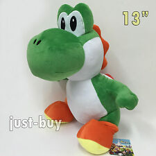 "New Super Mario Bros. World Soft Toy Yoshi Plush Stuffed Animal Teddy 13"" BIG"
