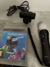 SONY PLAYSTATION MOVE STARTER PACK PS3 MOTION CONTROLLER + EYE CAMERA + DISC