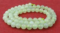 😏 China Jade Serpentin 4, 6 oder 8 mm Kugeln helles Mintgrün Perlen Strang 😉
