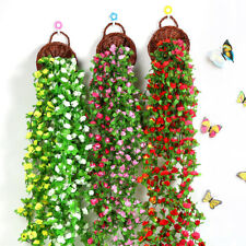 2.3m Artificial Silk Rose Flower Ivy Vine Hanging Garland Wedding Fence Decor Ja