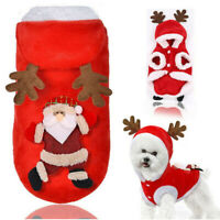Pet Dog Cat Clothes Christmas Warm Party Fancy Dress Puppy Cosplay Costume Gift