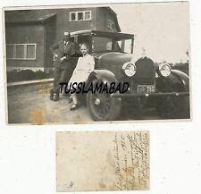 Argentinien um 1930 altes Auto kennzeichen Kfz Technik vor Haus Foto