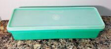 Vintage Tupperware Jade Green Celery Crisper Keeper #892 with lid #893