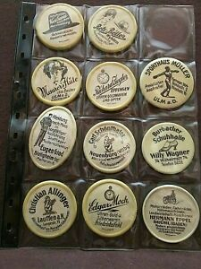 Huge Lot of 43 Vintage Celluloid/Metal  Advertising Pocket Mirrors from Germany