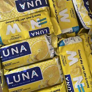 Lot Of 72 LUNA NUTRITION  BARS 8 Grams Protein Lemonzest Lemon