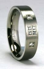 Unbranded Titanium Engagement Costume Rings