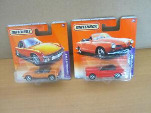 Matchbox Sammlung Konvolut VW-PORSCHE und KARMANN GHIA Cabrio aus 2010 in OVP