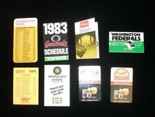 Lot of 8 United States Football League USFL Schedules From 1983,84,85