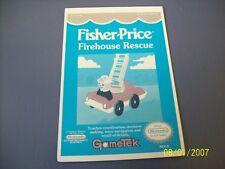 FISHER PRICE FIREHOUSE  NES 8 Bit Nintendo Vidpro Card