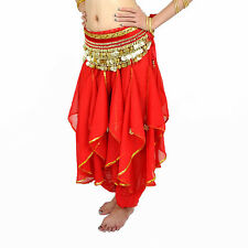 New belly dance costume Harem Pants Skirt & gold wavy 12 colors