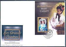CENTRAL AFRICA 2012 MARY CASSATT  SOUVENIR SHEET FIRST DAY COVER