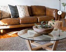 X Dispaly Freedom Brooklyn 3 Seater Sofa In Oxford Tan Rrp $3099