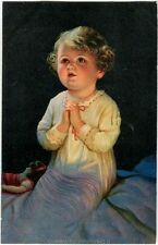 1933 Milano - bambina che prega, bambola comm. Marcia su Roma FP COL VG