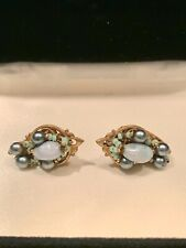 Vintage Signed Miriam Haskell Clip On Earrings