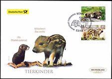 BRD 2017: Tierkinder Iltis+Wildschwein Post-FDC selbstklebende Nr. 3293+94 1703