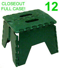 CLOSEOUT! 12 NEW GREEN FOLDING PLASTIC STEP STOOLS/STEPSTOOL,300 LB. CAPACITY