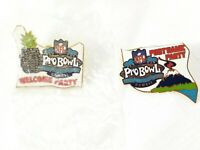 NFL Pro Bowl Hawaii All Star Game 2003 Lapel Pin Collector Football Pinback 2 Pc