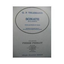 TELEMANN G. P. Sonate en La mineur Piano Hautbois partition sheet music score